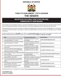 Kenya Senate -Call Public Participation_Submission of Memo_WH Copy July 2021